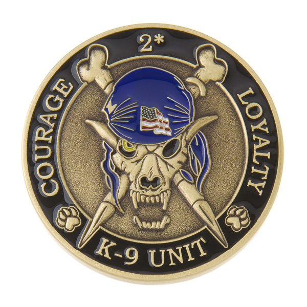 K9 | Delta Challenge Coins | Custom Coins for all Industries