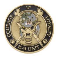 K9 Skeleton Coin (Antique Gold w/ ACU)