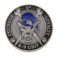 K9 Skeleton Coin (Antique Silv w/ Blue)