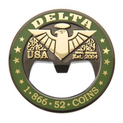 beer bottle opener 12 delta challenge coins custom coins for all industries military coins. Black Bedroom Furniture Sets. Home Design Ideas